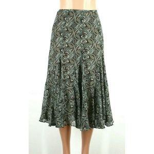Jones New York Womens Skirt Green Floral